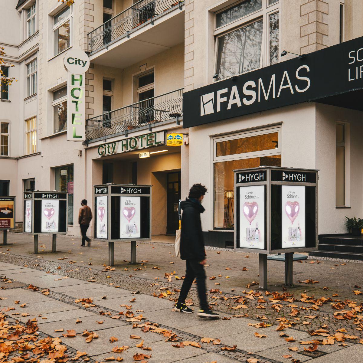 Display aus dem Berliner Premium Netzwerk