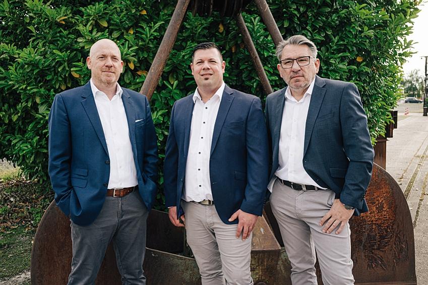 Die Geschäftsleitung der Heinrich Hermanns GmbH: Torsten Kaminski (l.), Oliver Krupp und Robert Waade (r.)
